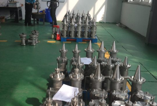 High Velocity Valves lined up for pneumatic testing  High Velocity Valves IMG 0246 e1397400458658 540x365