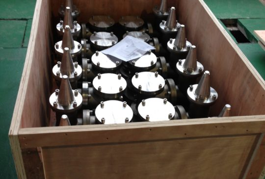 P-V Valves boxed and ready for shipment  Our Services IMG 0275 e1397401299946 540x365