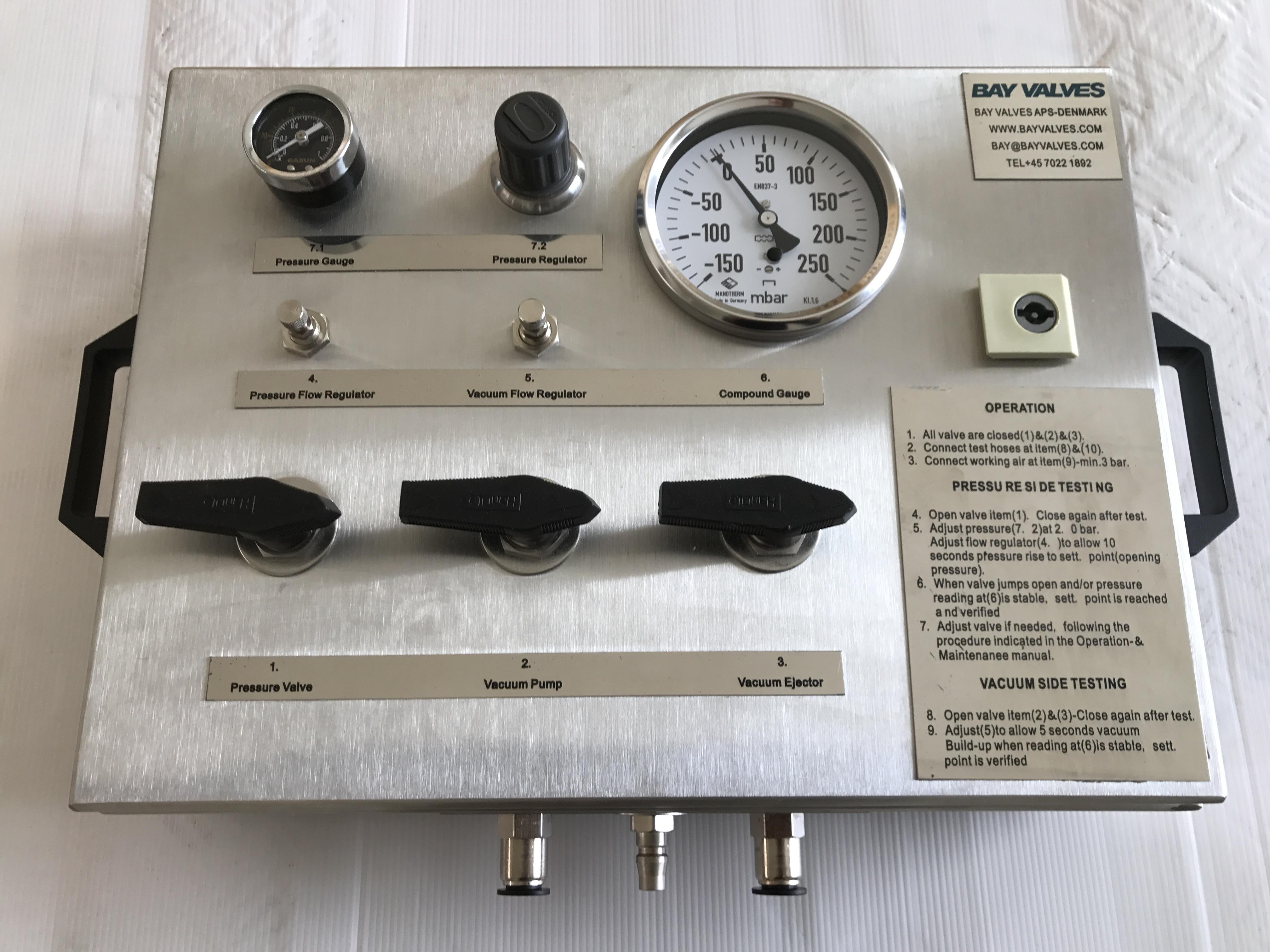 test equipment for p/v valves and high velocity valves Test Equipment for P/V valves and High Velocity valves 2017 06 13 13