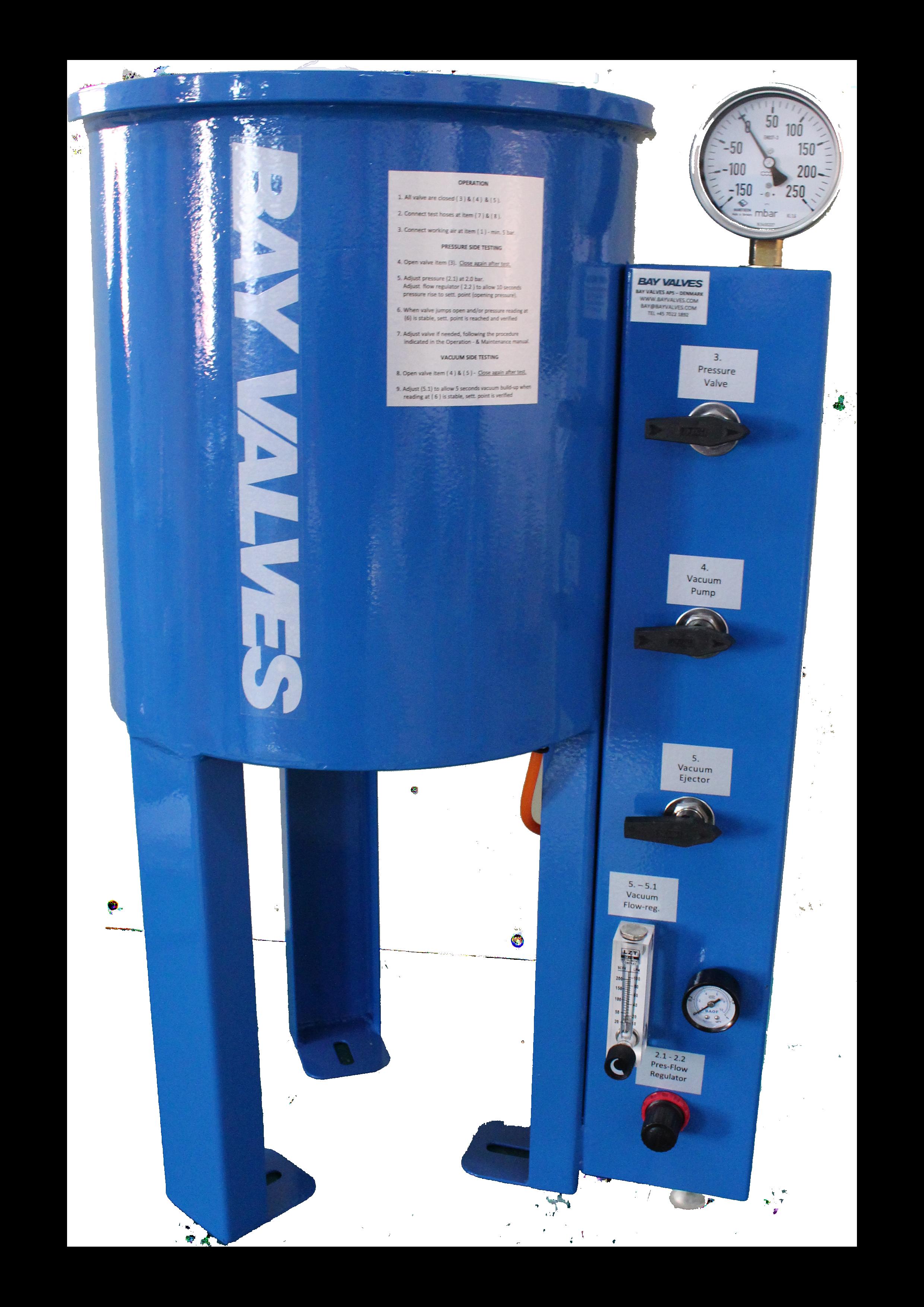 test equipment for p/v valves and high velocity valves Test Equipment for P/V valves and High Velocity valves Untitled 2